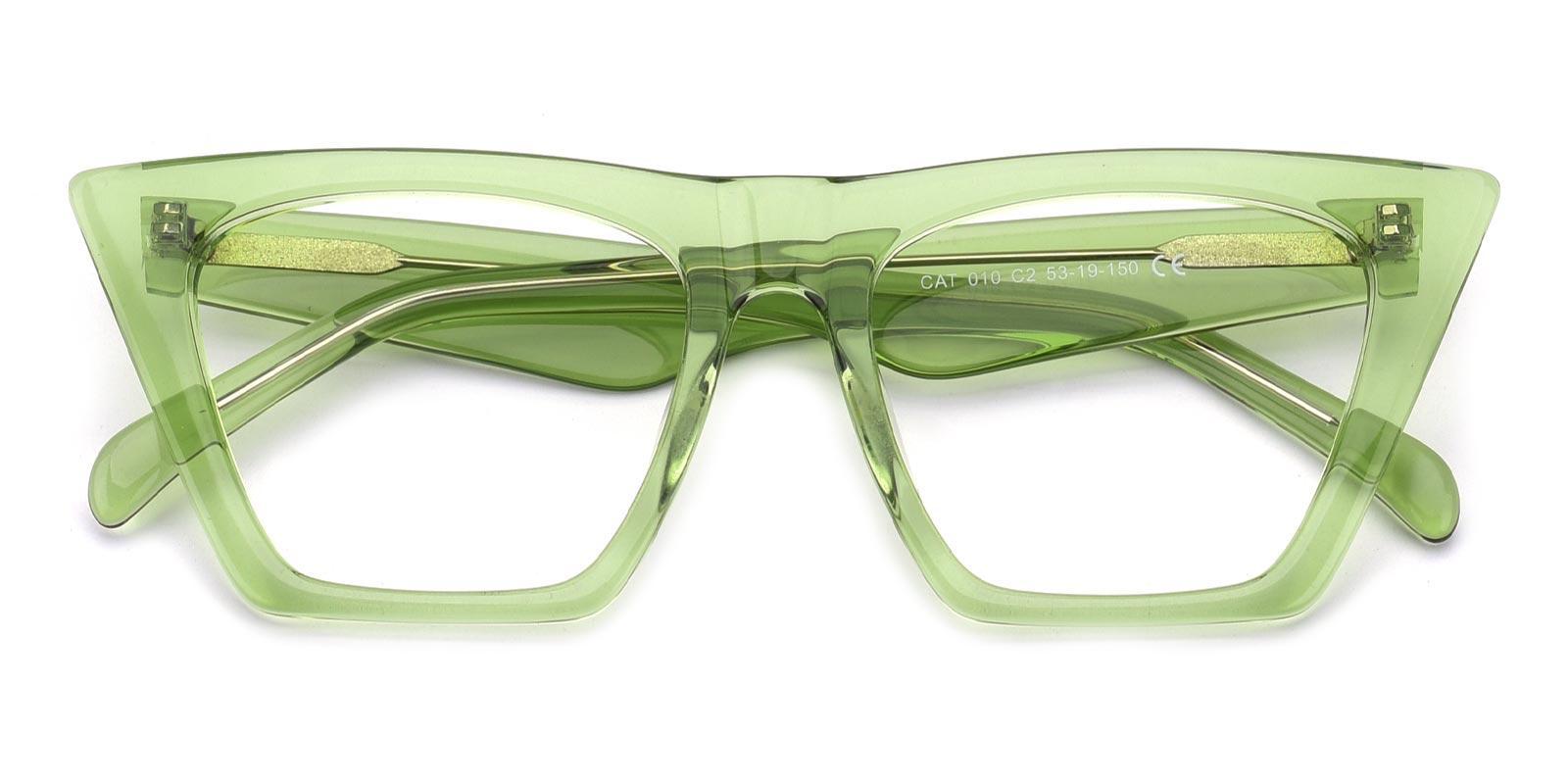 Alva-Green-Cat-Acetate-Eyeglasses-detail