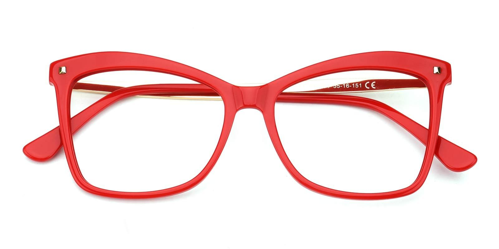 Gleen-Red-Cat-Combination-Eyeglasses-detail