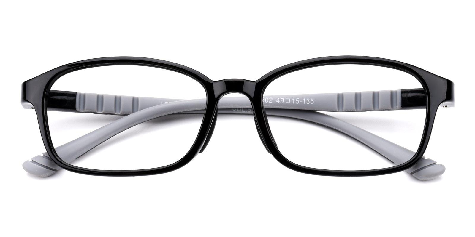 Adward-Black-Rectangle-Combination-Eyeglasses-detail