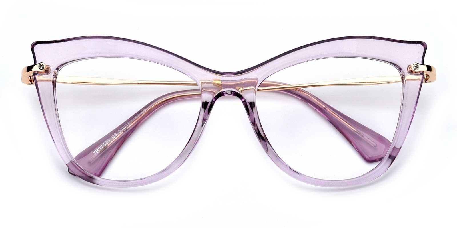 Agatha-Purple-Cat-Combination-Eyeglasses-detail
