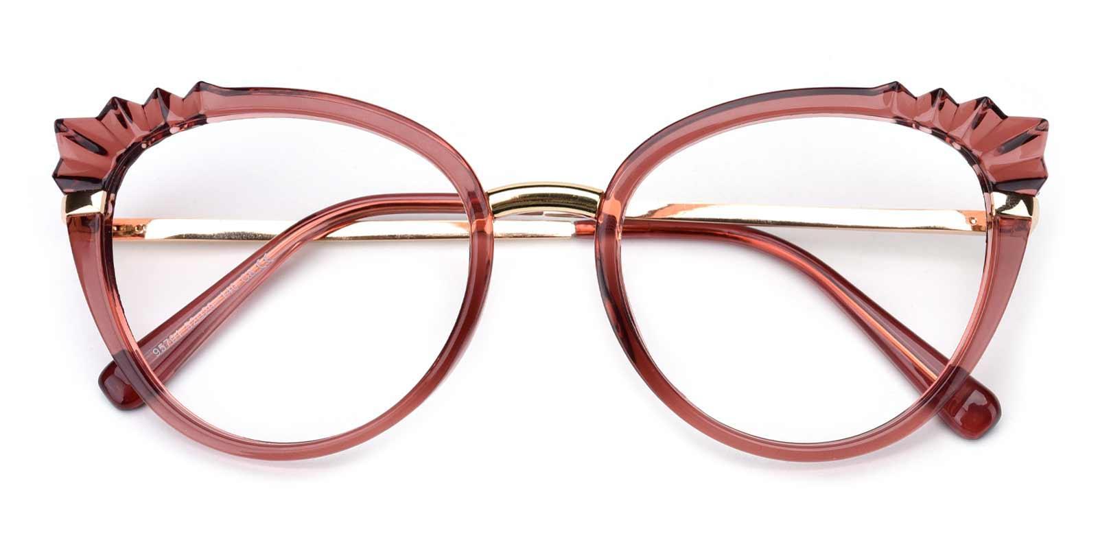 Damara-Red-Cat-Combination-Eyeglasses-detail
