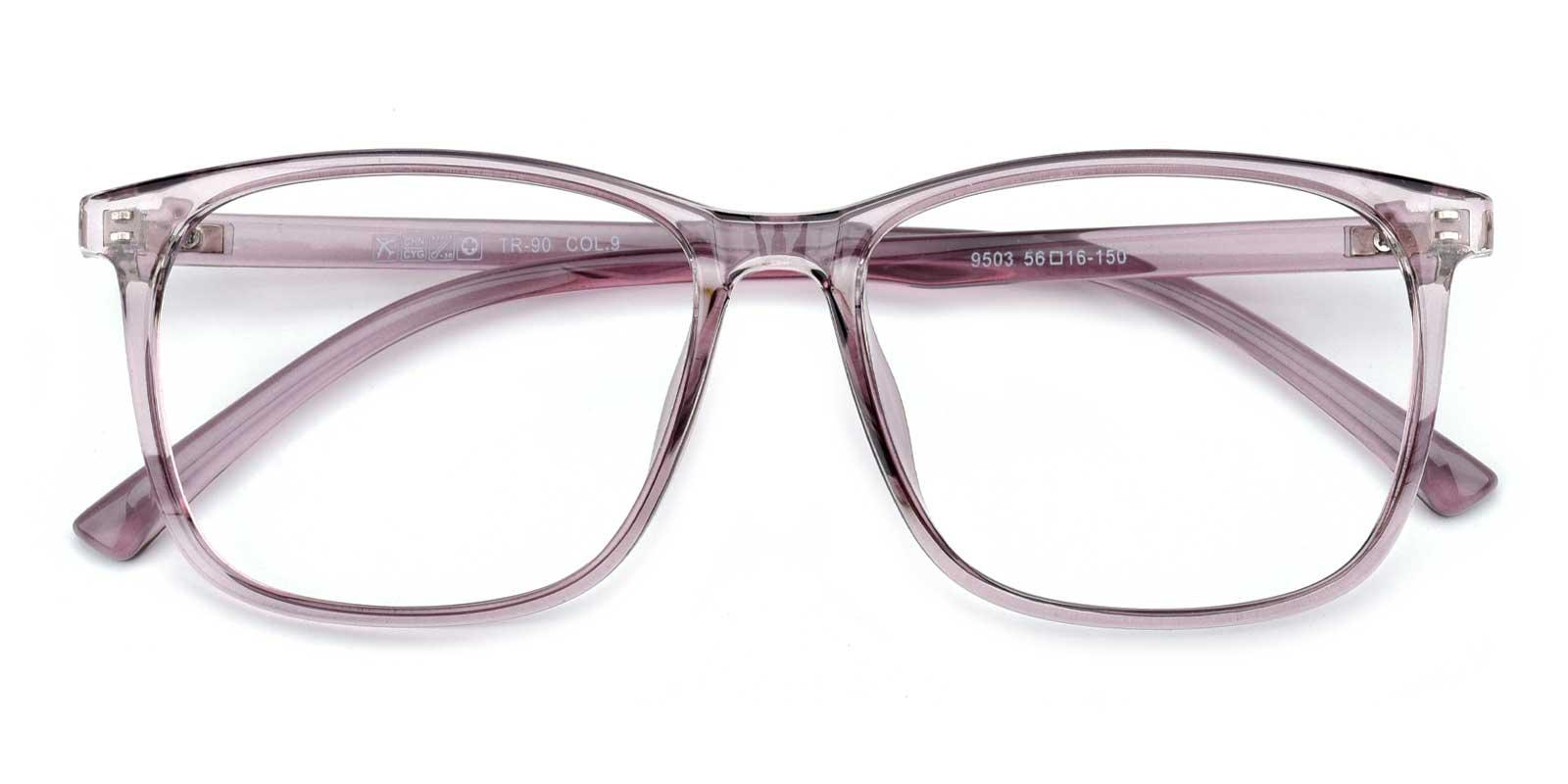 Gloria-Purple-Rectangle-TR-Eyeglasses-detail