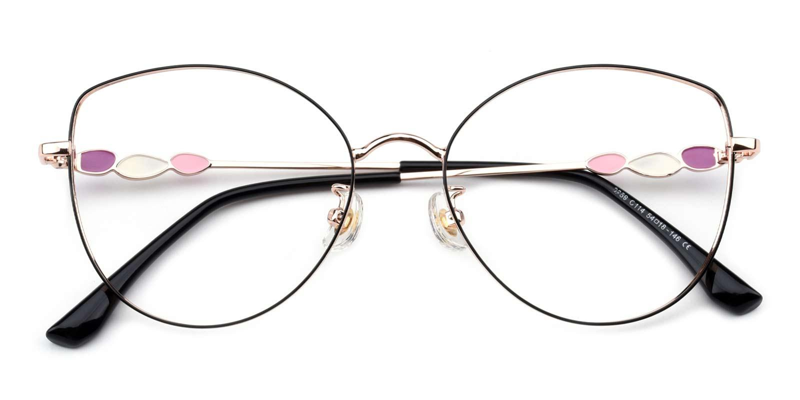 Haley-Gold-Cat-Metal-Eyeglasses-detail