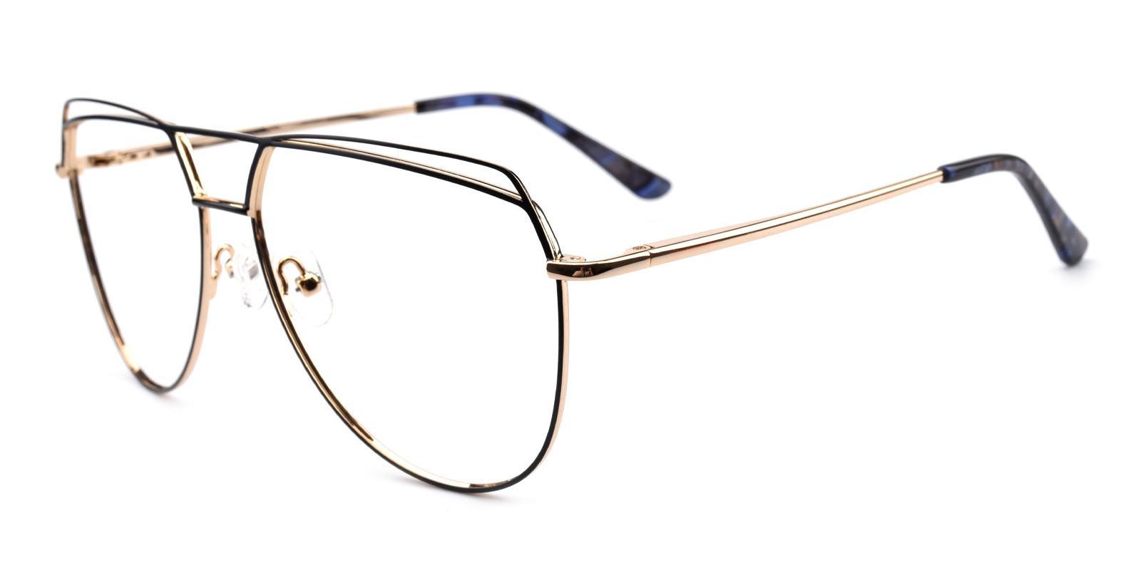 Nicole-Black-Aviator-Metal-Eyeglasses-additional1