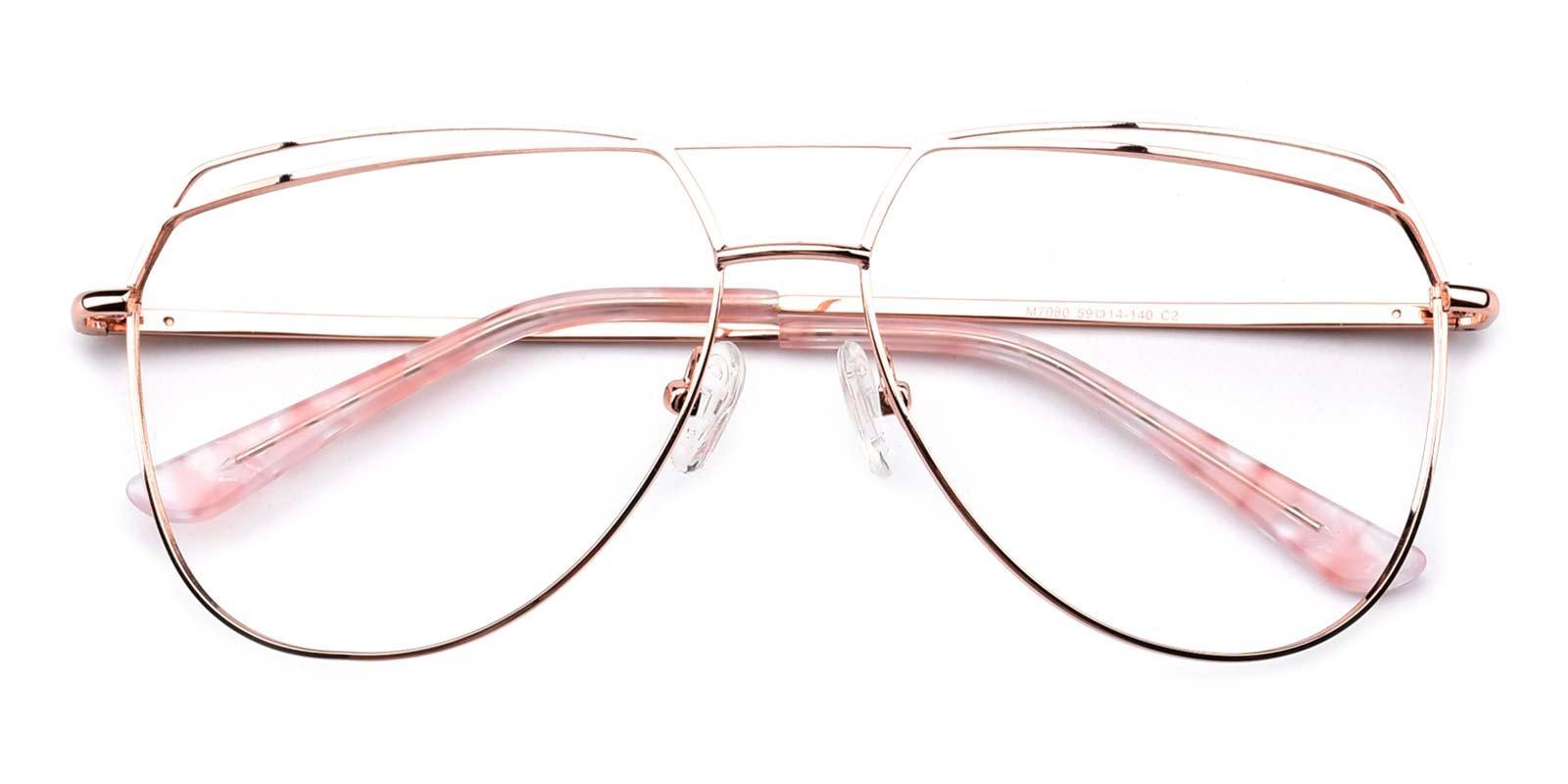 Nicole-Pink-Aviator-Metal-Eyeglasses-detail
