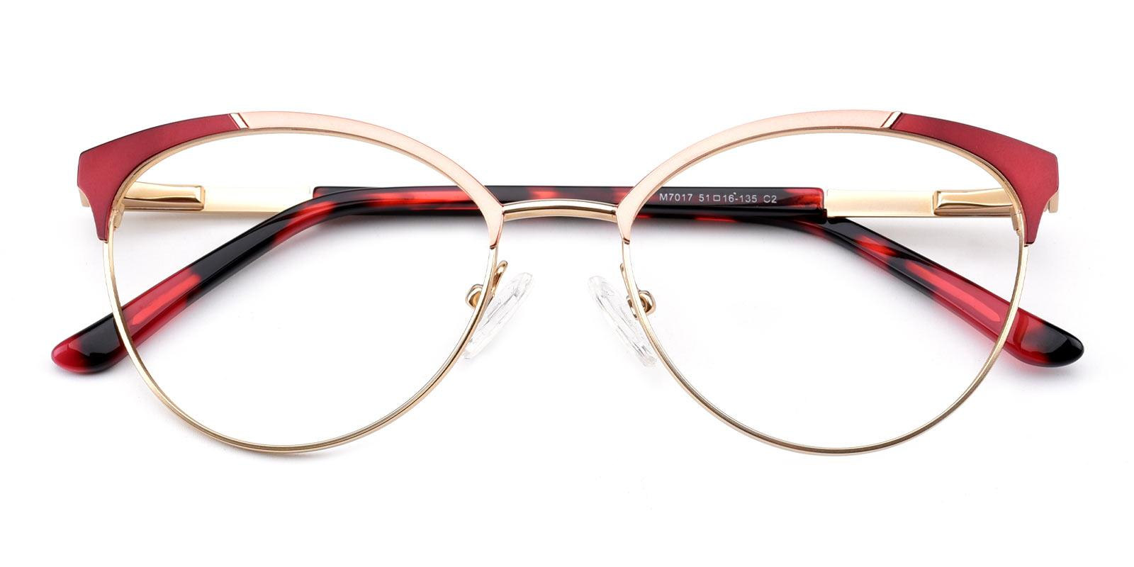 Hobbit-Red-Cat-Metal-Eyeglasses-detail