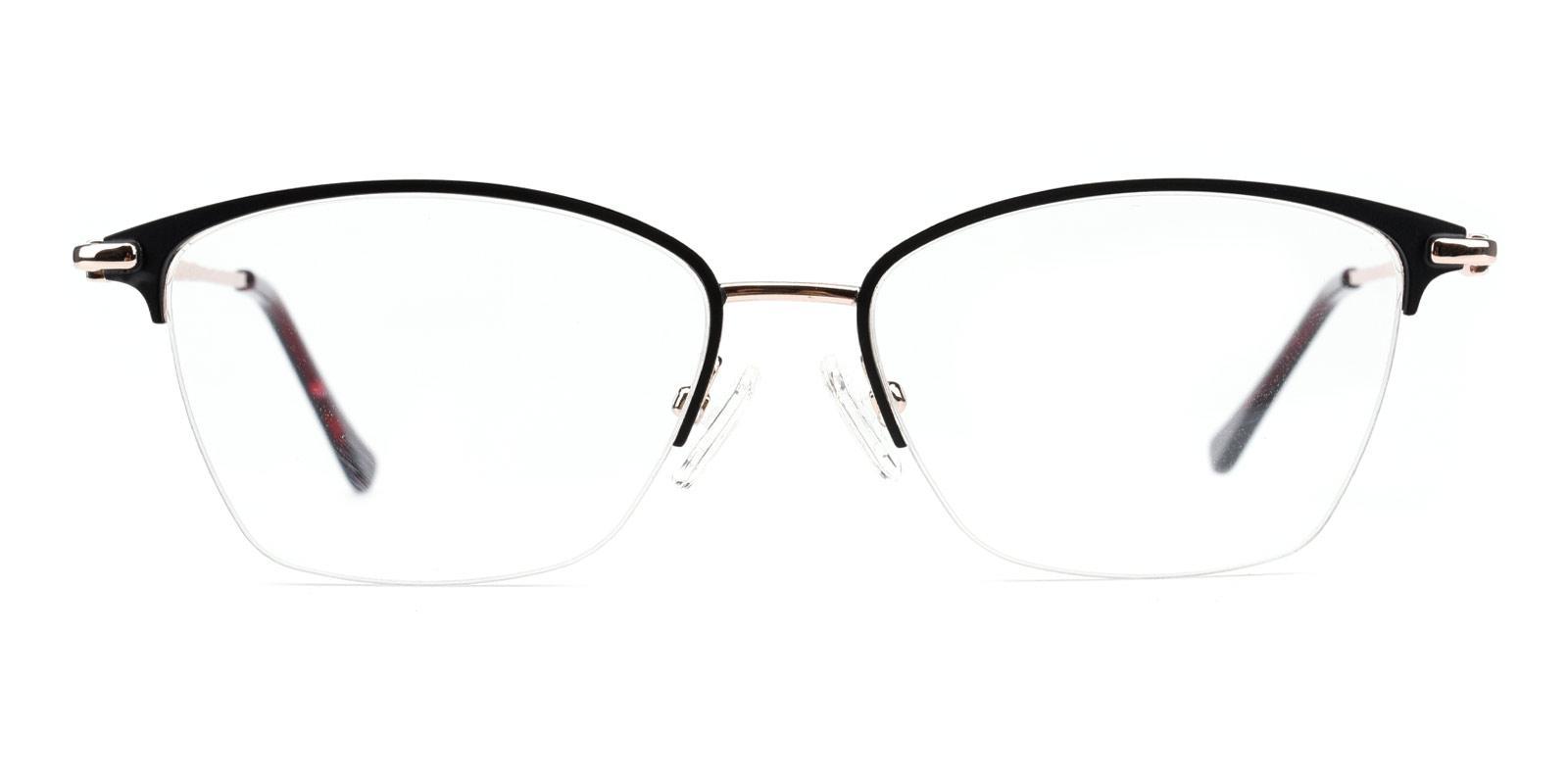 Karastan-Black-Rectangle-Metal-Eyeglasses-detail