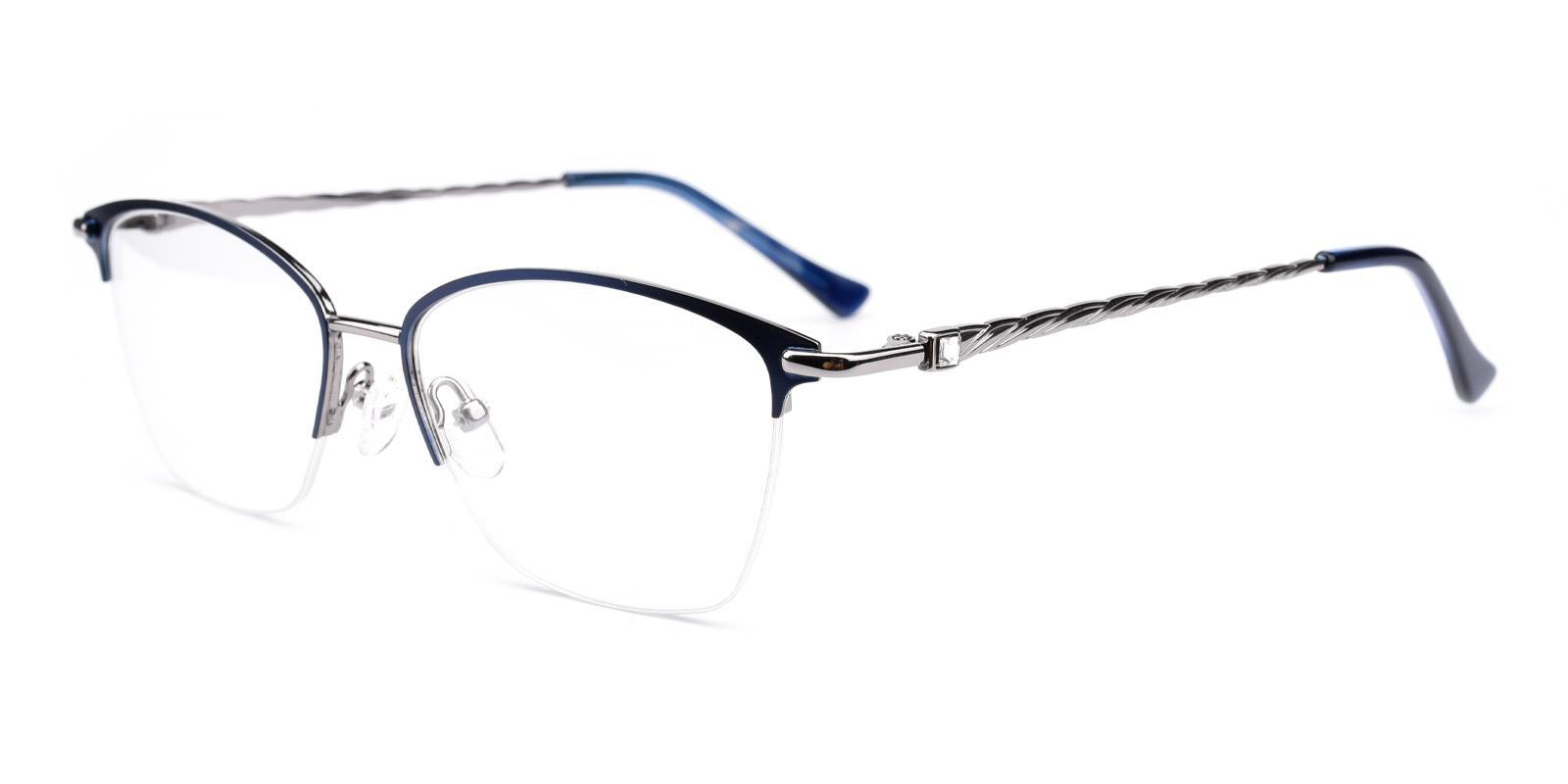 Karastan-Blue-Rectangle-Metal-Eyeglasses-detail