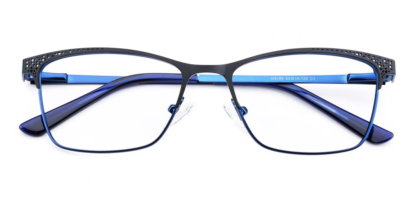 Moon-Blue-Rectangle-Metal-Eyeglasses-detail