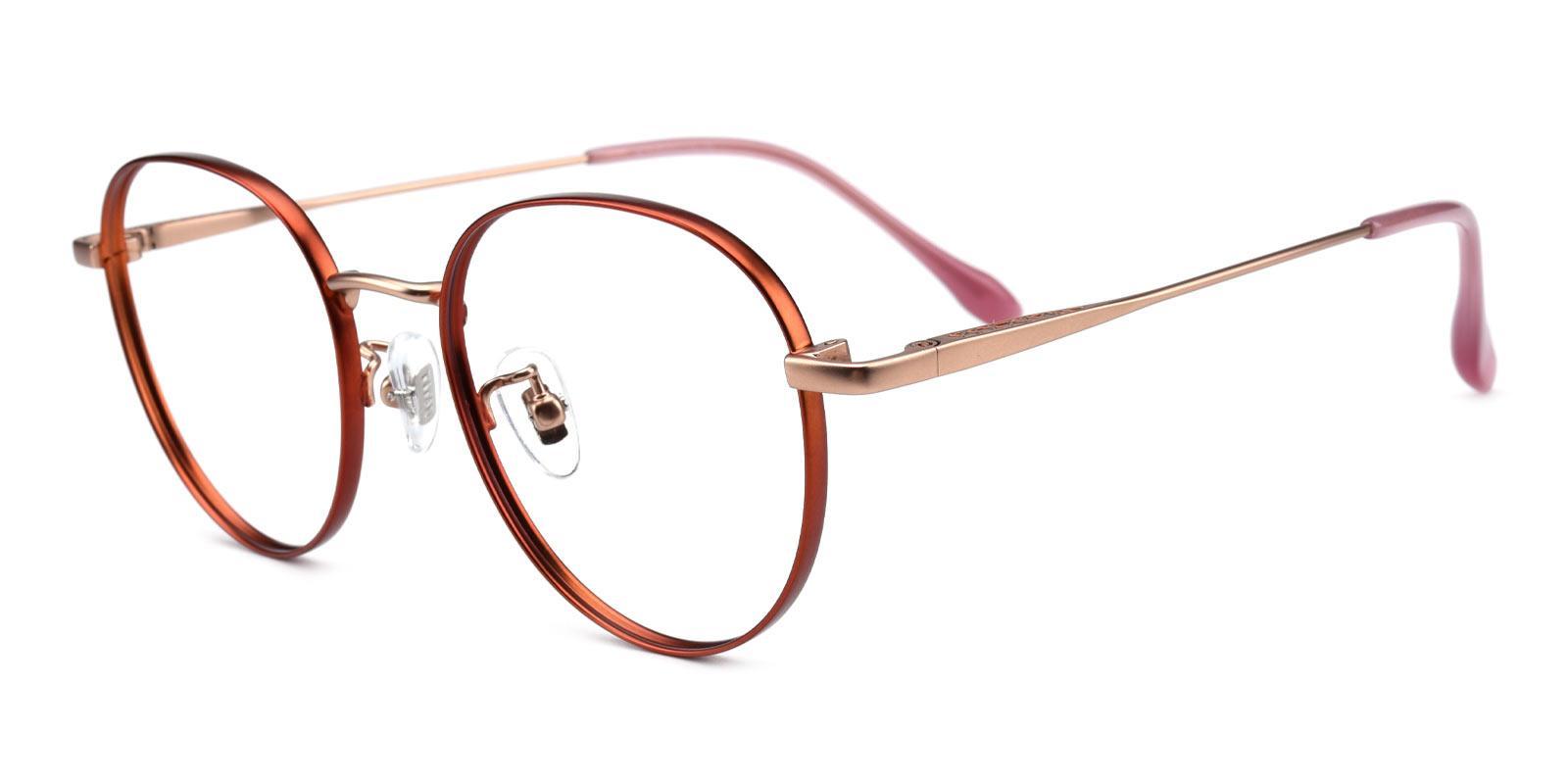 North-Orange-Round-Titanium-Eyeglasses-additional1