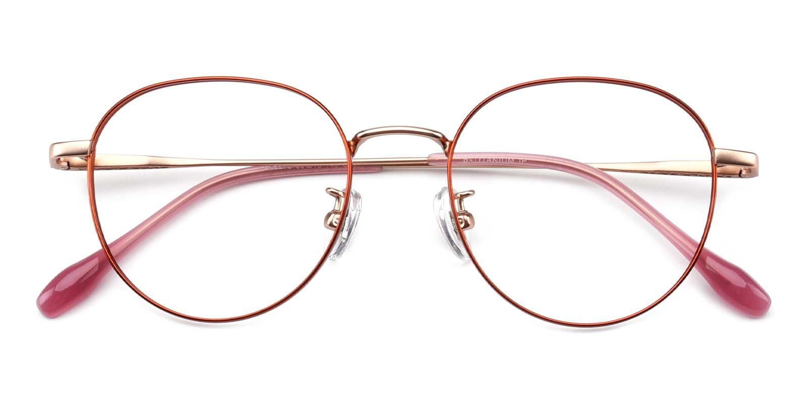 North-Orange-Round-Titanium-Eyeglasses-detail