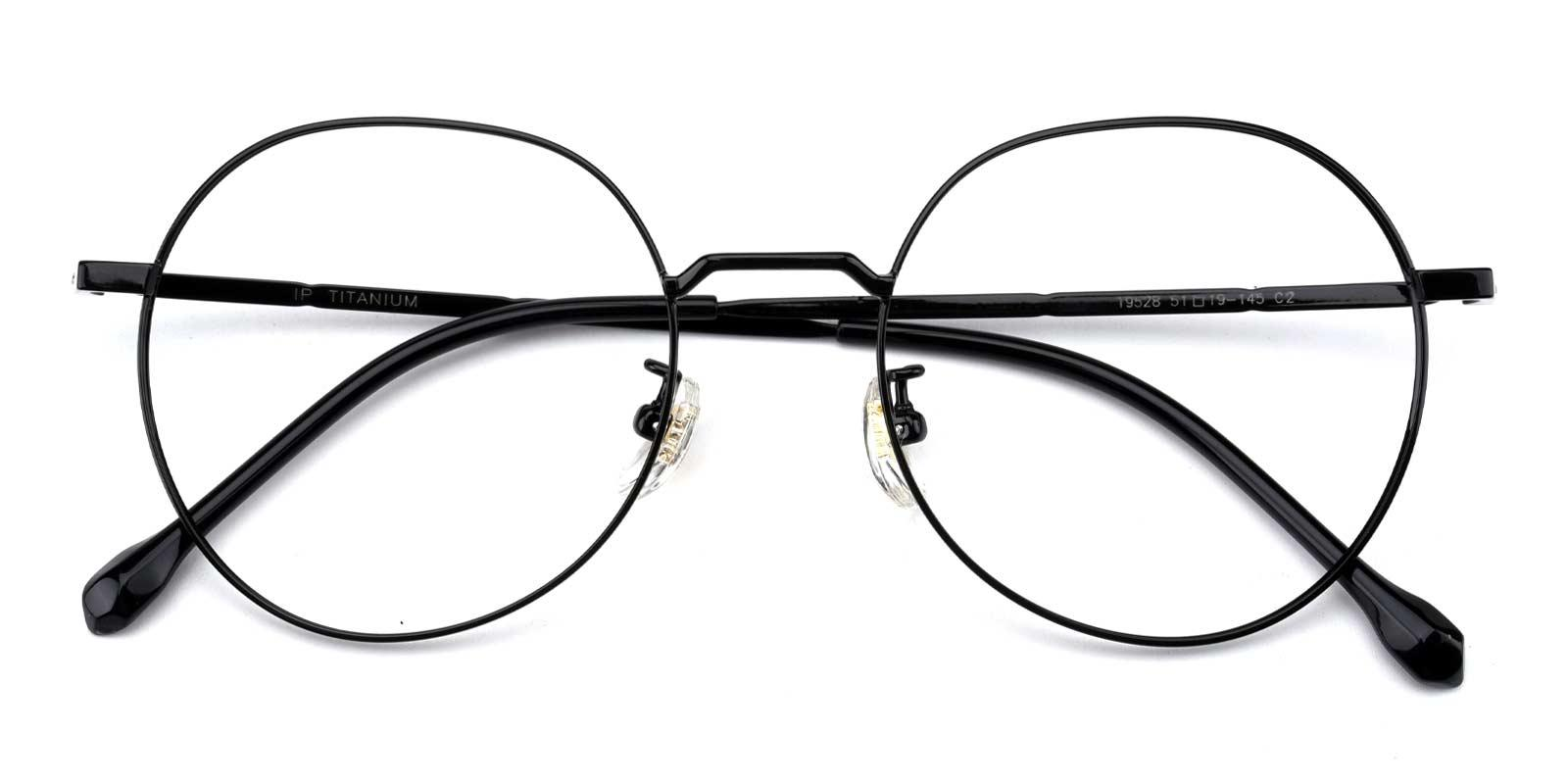 Berkeley-Black-Round-Titanium-Eyeglasses-detail