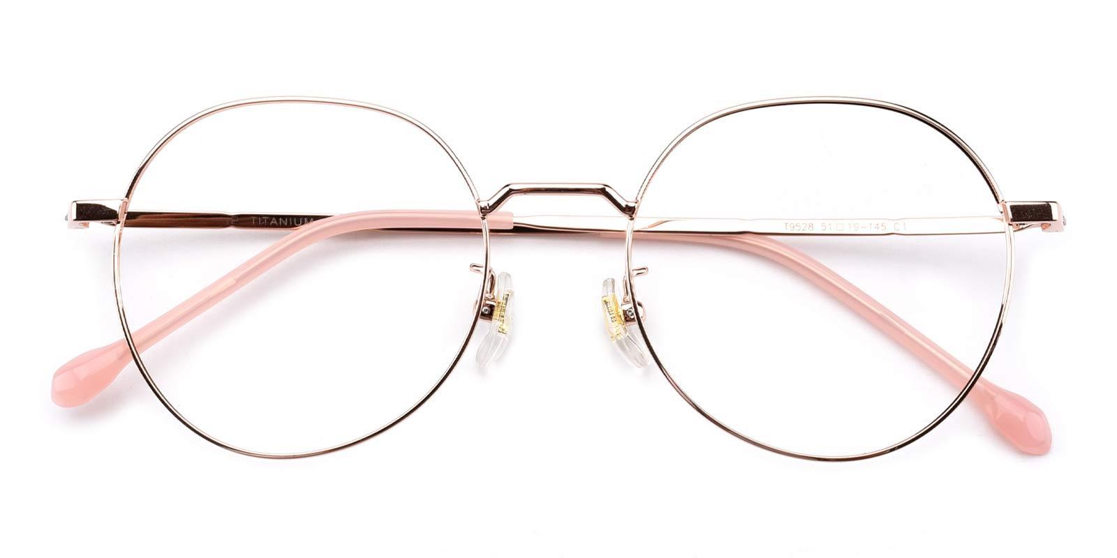 Berkeley-Pink-Round-Titanium-Eyeglasses-detail