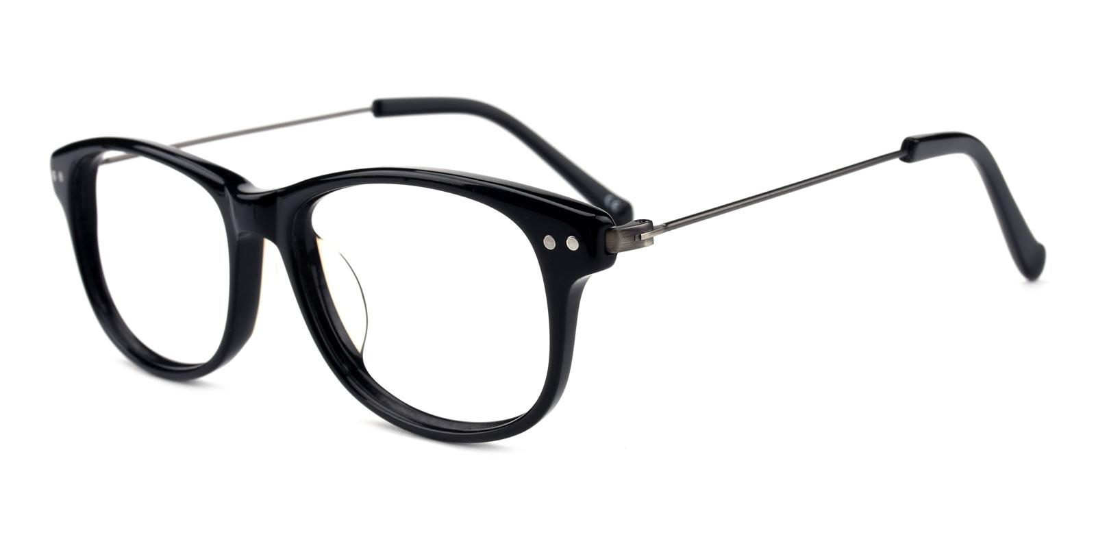 Gulmira-Black-Rectangle-Plastic-Eyeglasses-additional1