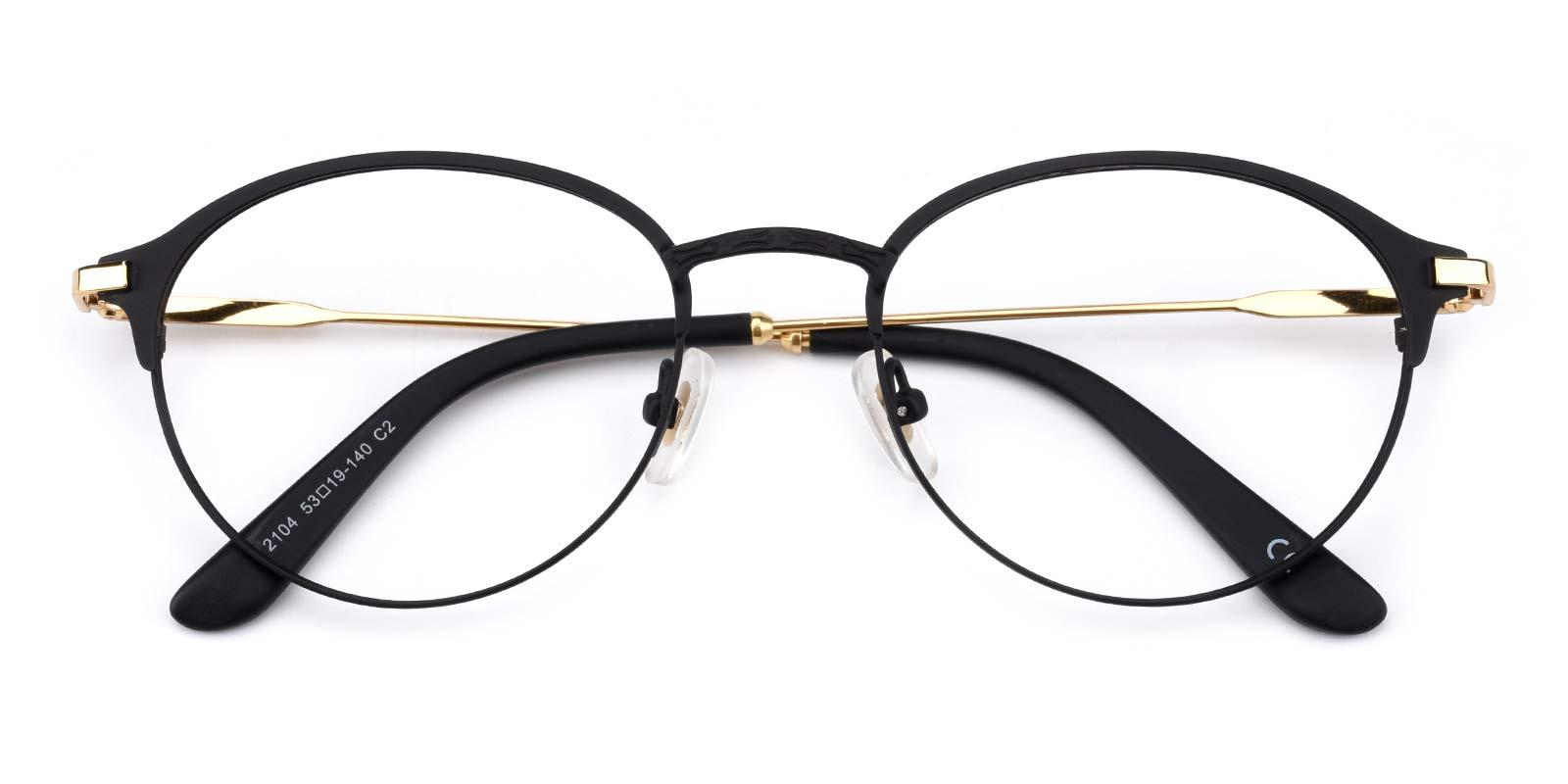 Jean-Black-Round-Metal-Eyeglasses-detail