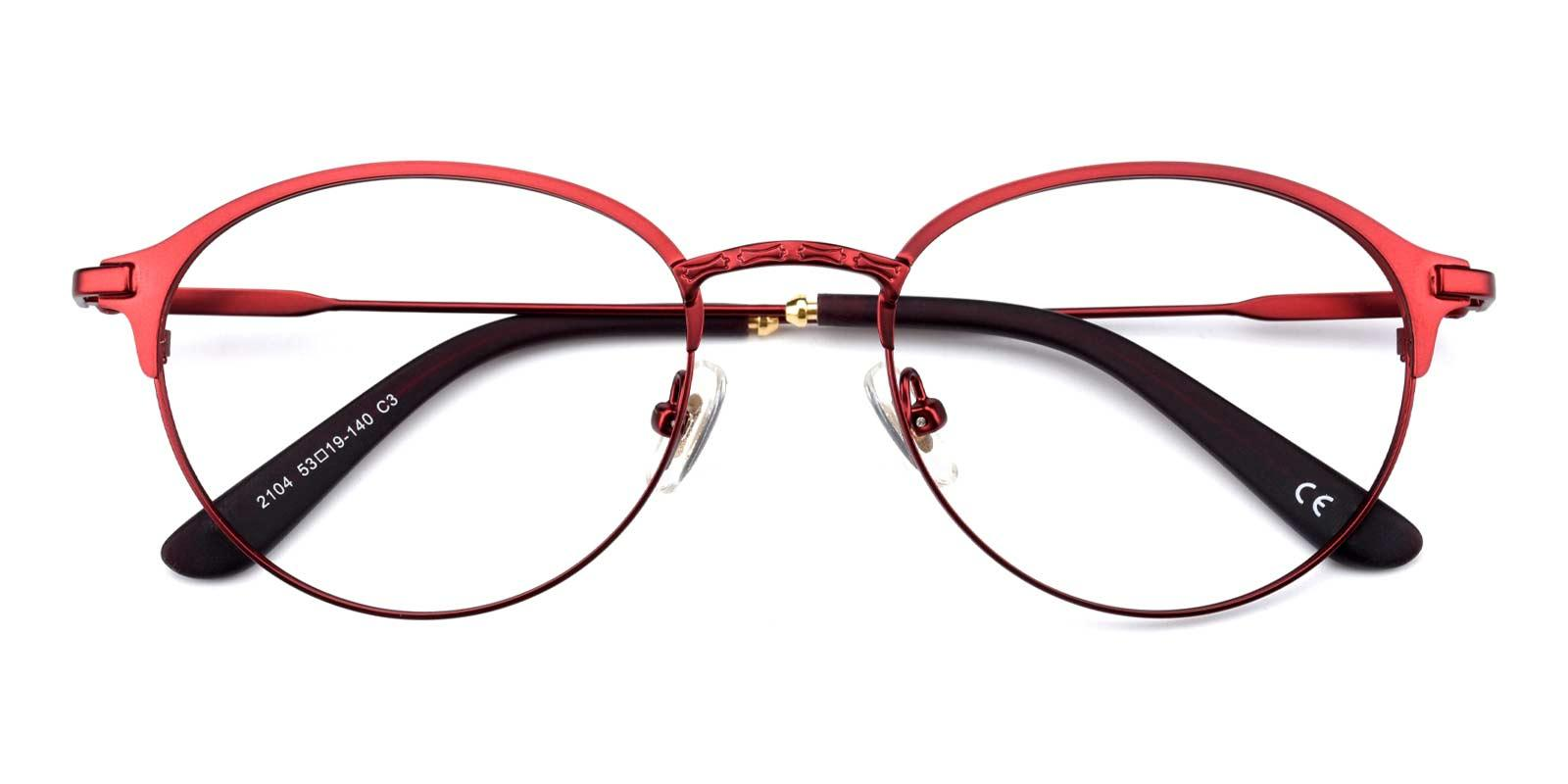 Jean-Red-Round-Metal-Eyeglasses-detail