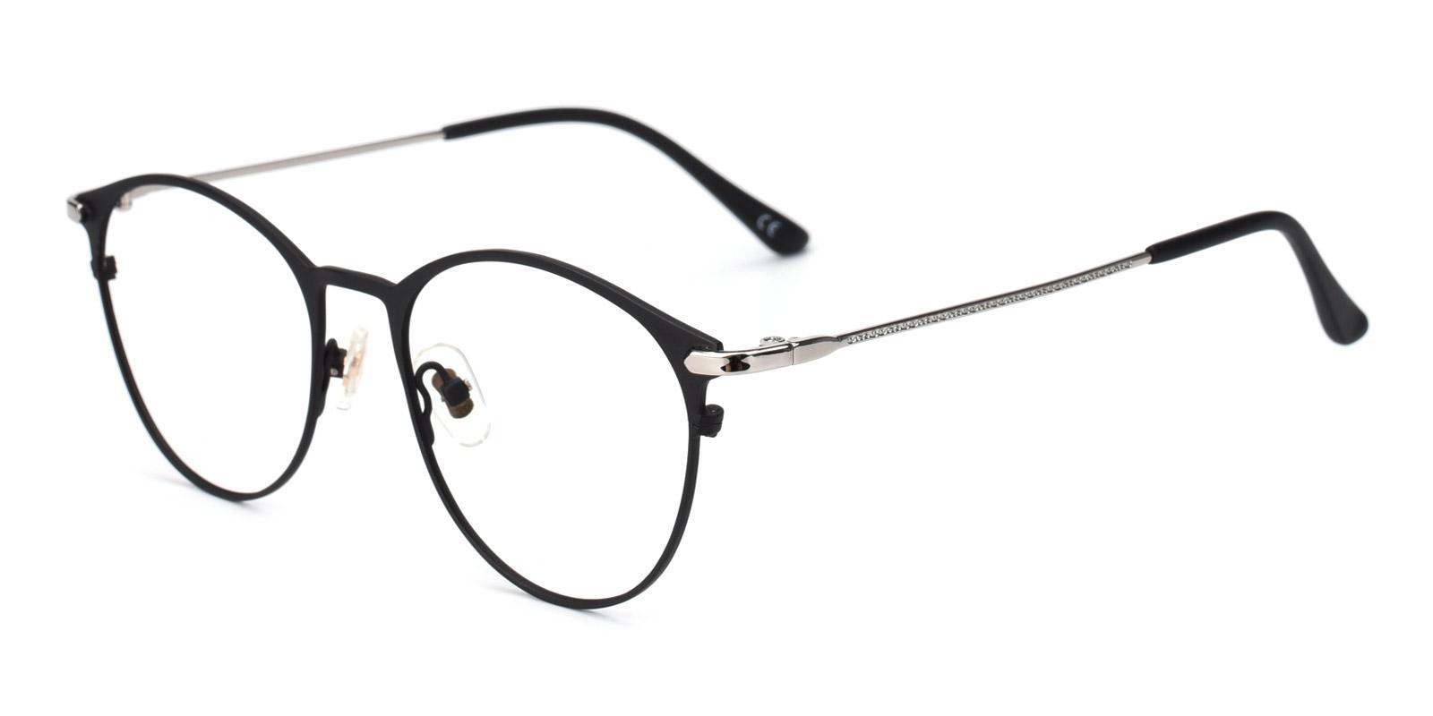 Gosse-Black-Oval-Metal-Eyeglasses-detail