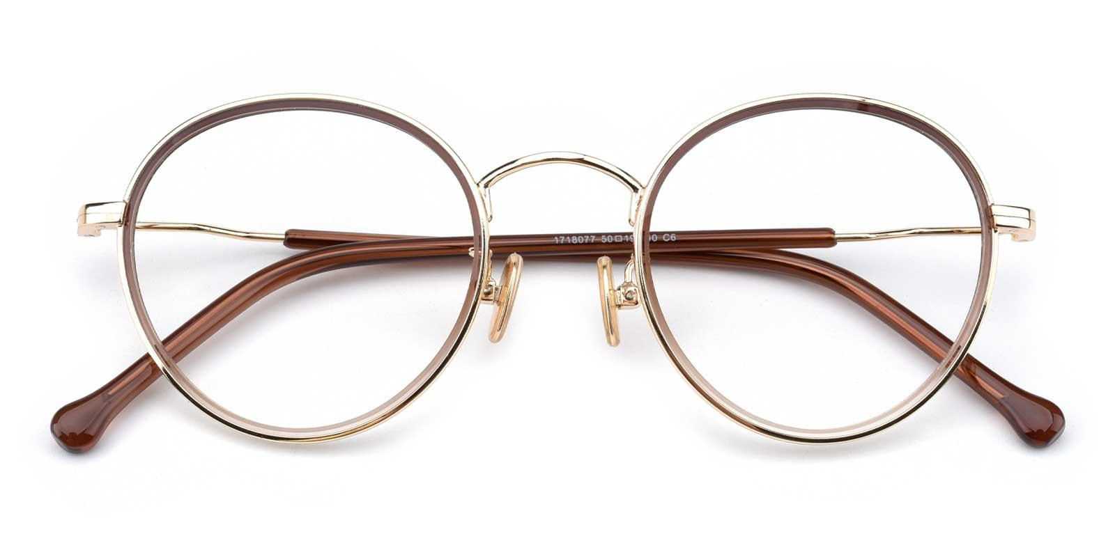 Jenny-Brown-Round-Combination-Eyeglasses-detail