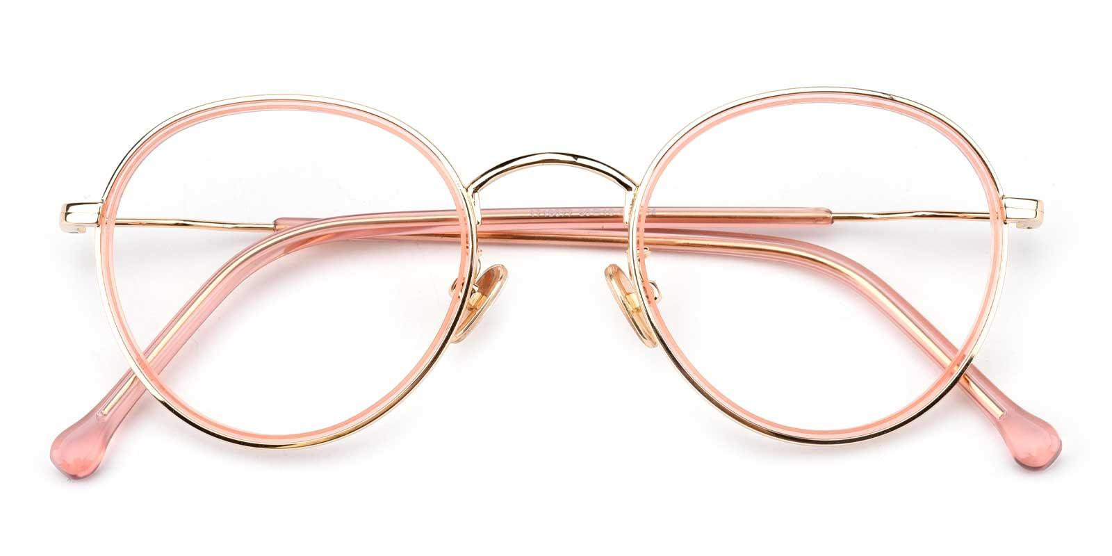 Jenny-Pink-Round-Combination-Eyeglasses-detail