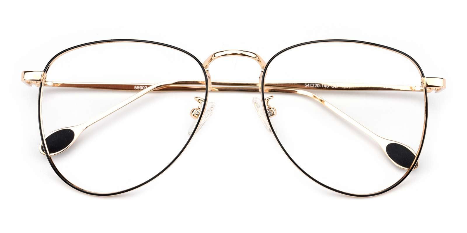 Bernice-Gold-Aviator-Metal-Eyeglasses-detail