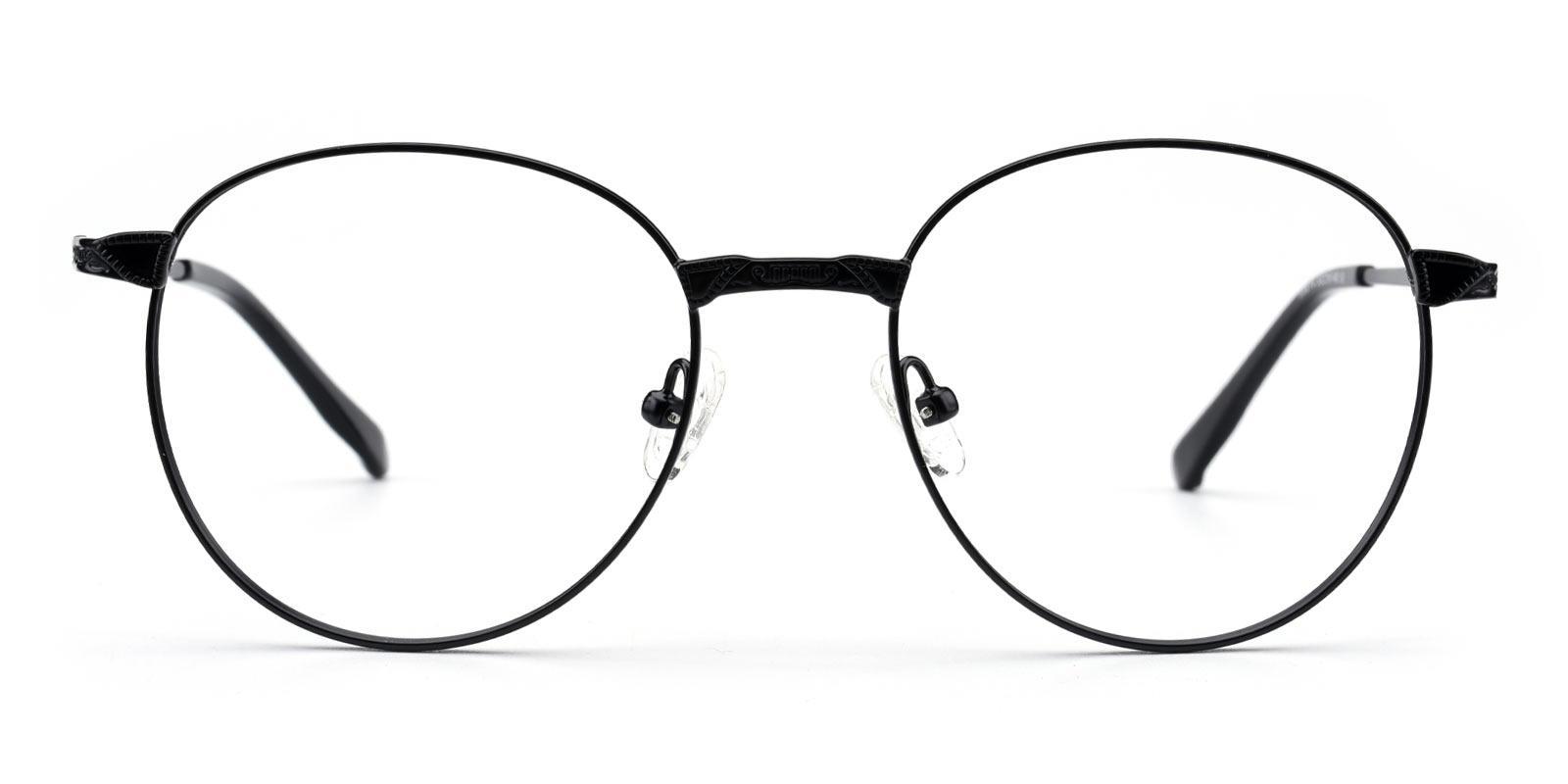 Camp-Black-Round-Metal-Eyeglasses-detail