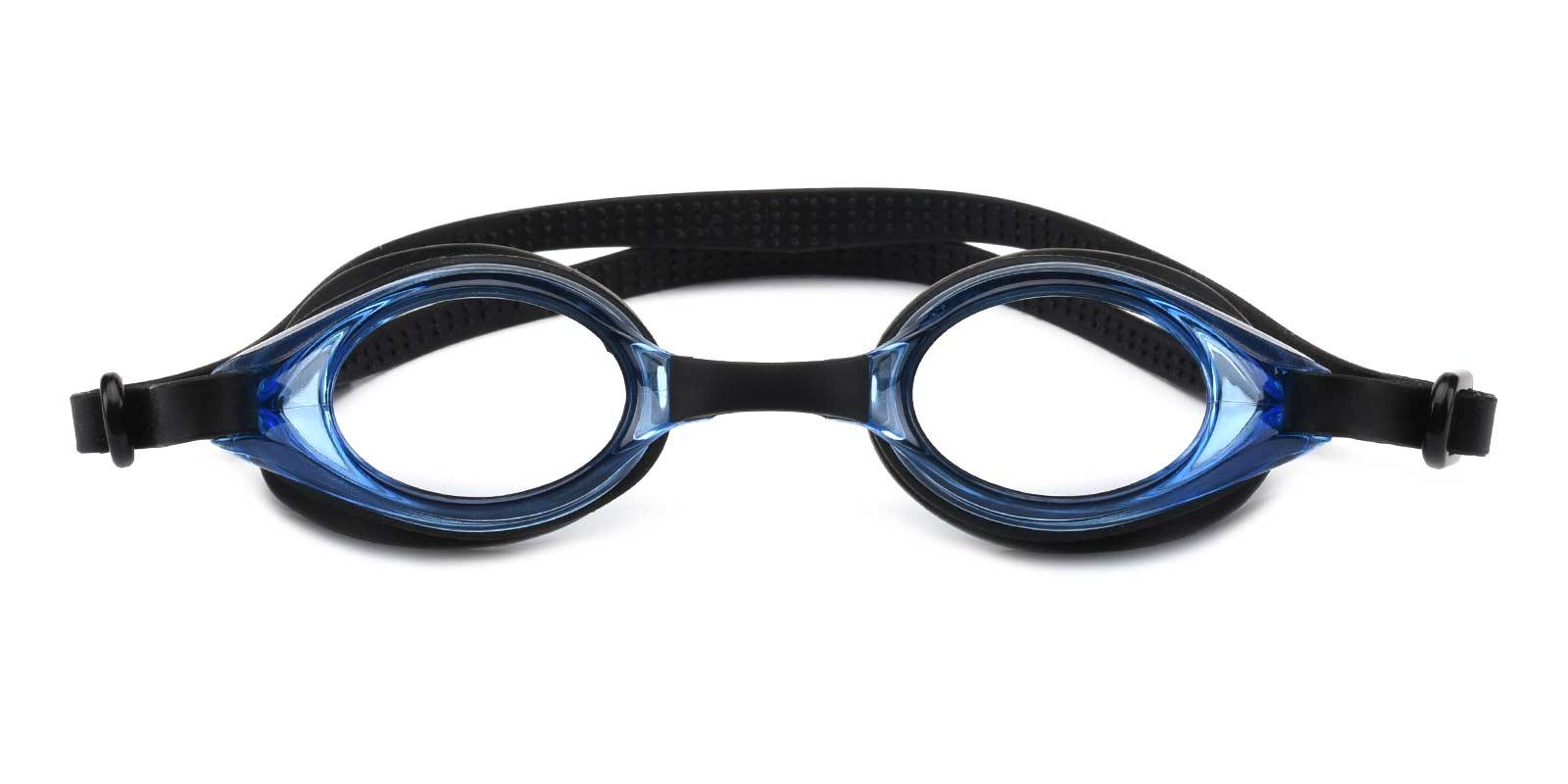Swimming Goggles-Blue-Geometric-Combination-SportsGlasses-detail