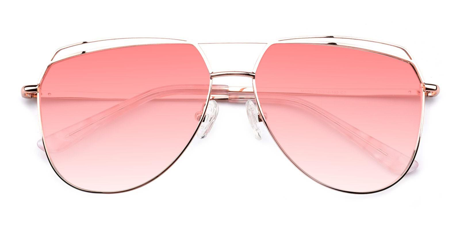 Acto-Pink-Aviator-Metal-Sunglasses-detail