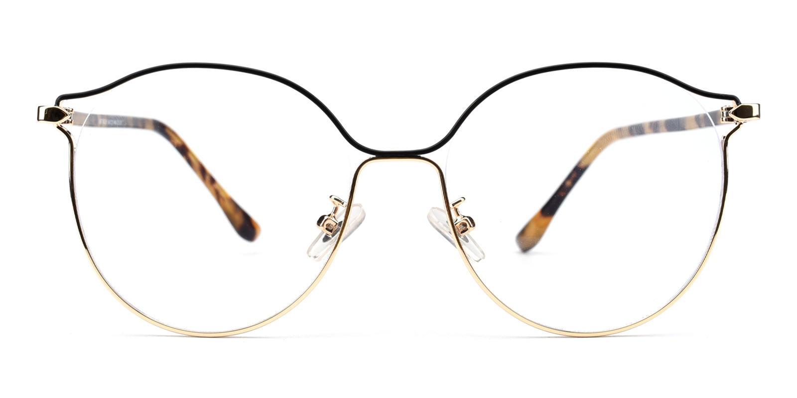 Alpha-Leopard-Round-Metal-Eyeglasses-detail