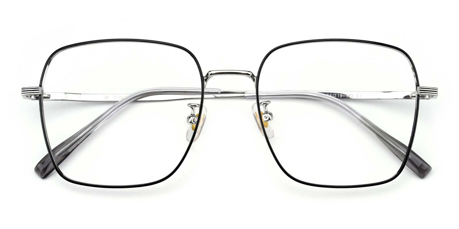 Joa-Black-Square-Titanium-Eyeglasses-detail