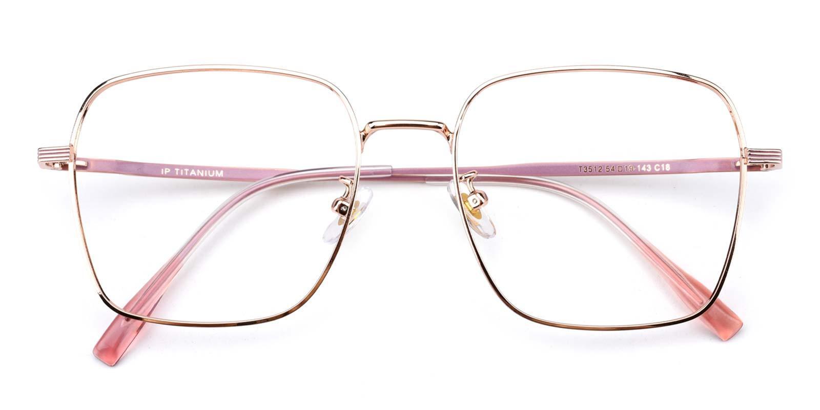Joa-Pink-Square-Titanium-Eyeglasses-detail
