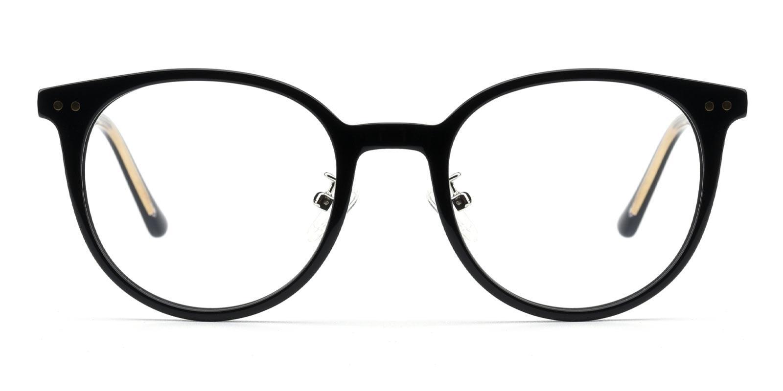 Crystal-Black-Round-TR-Eyeglasses-detail