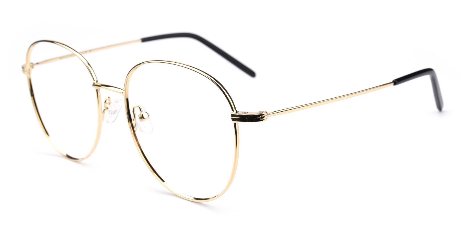 Enid-Gold-Round / Square-Metal / TR-Eyeglasses-detail