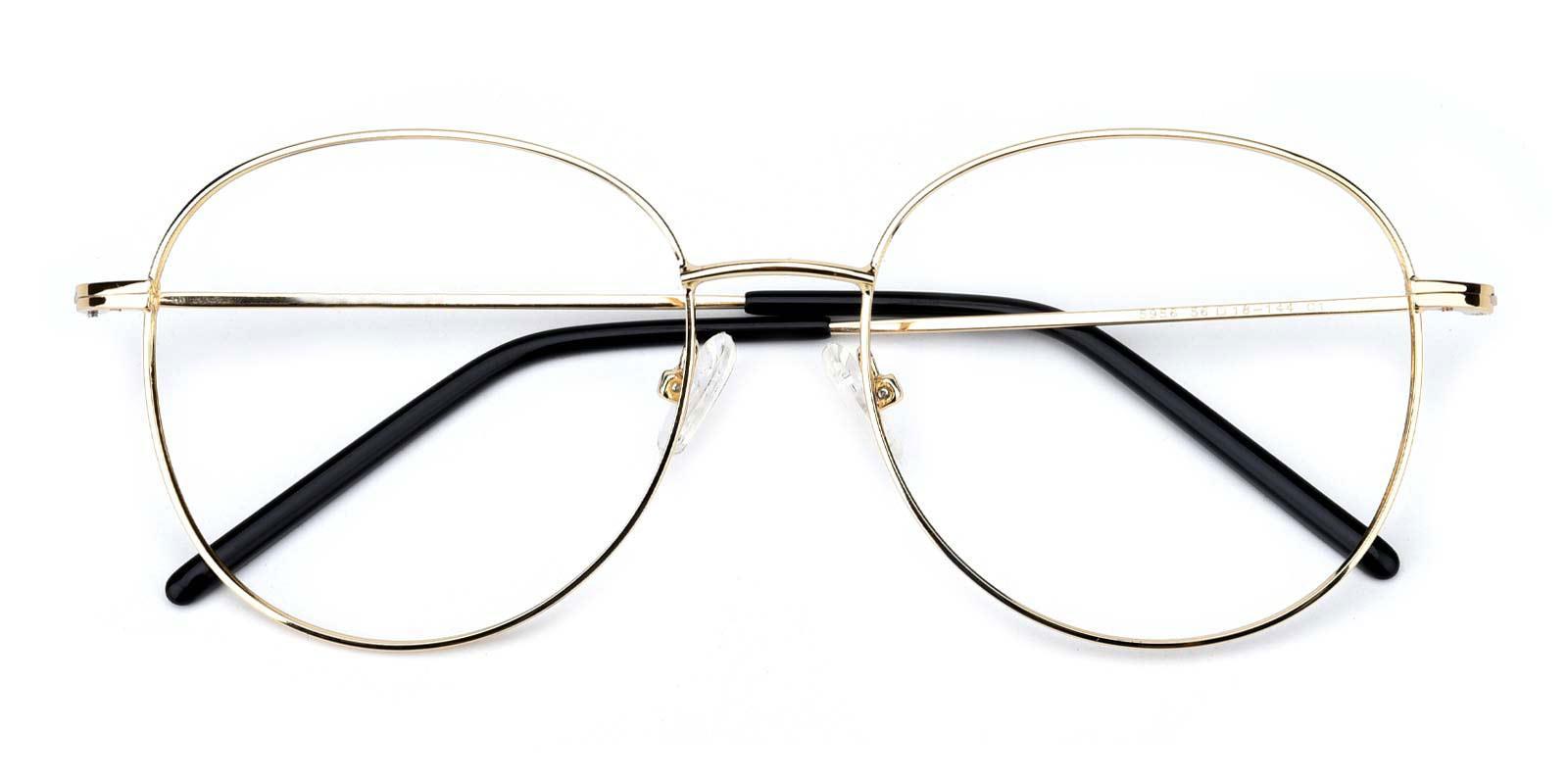 Damla-Gold-Round-Metal-Eyeglasses-detail