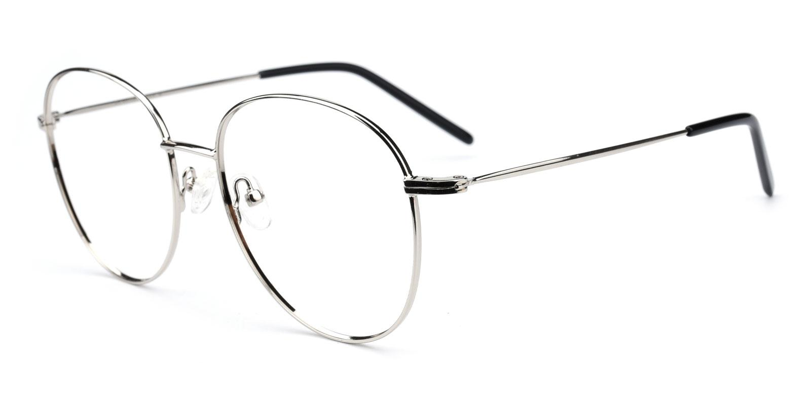 Damla-Silver-Round-Metal-Eyeglasses-additional1