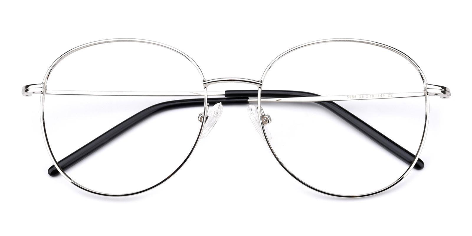 Damla-Silver-Round-Metal-Eyeglasses-detail