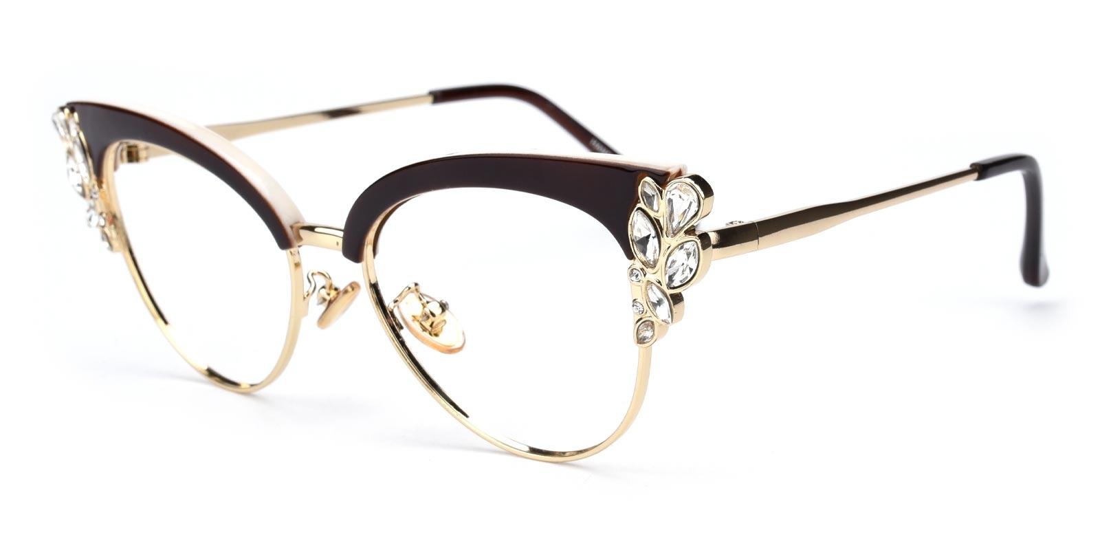 Denise-Brown-Cat-Metal-Eyeglasses-additional1