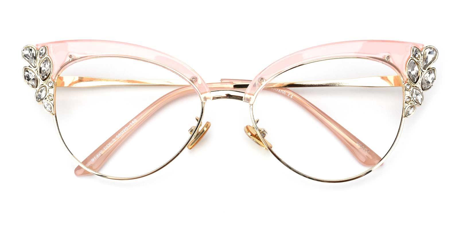 Denise-Pink-Cat-Metal-Eyeglasses-detail