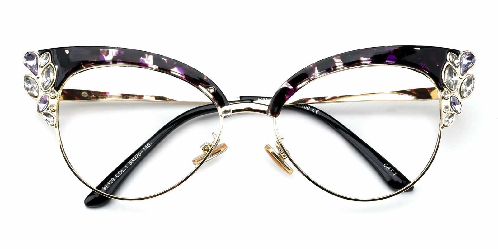 Denise-Purple-Cat-Metal-Eyeglasses-detail
