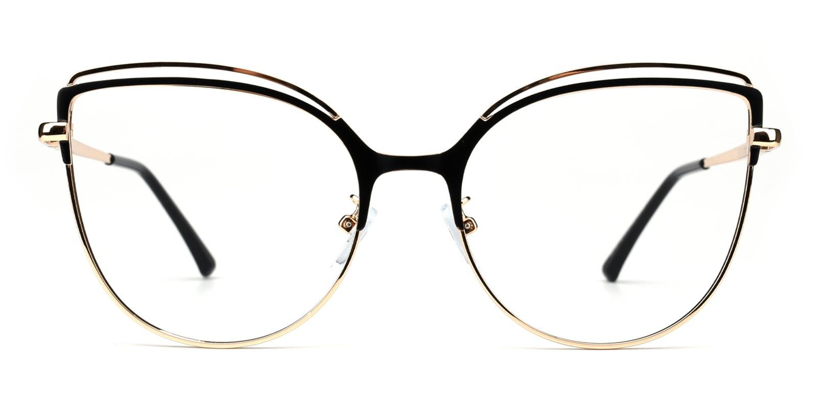 Ethel-Black-Cat-Metal-Eyeglasses-detail