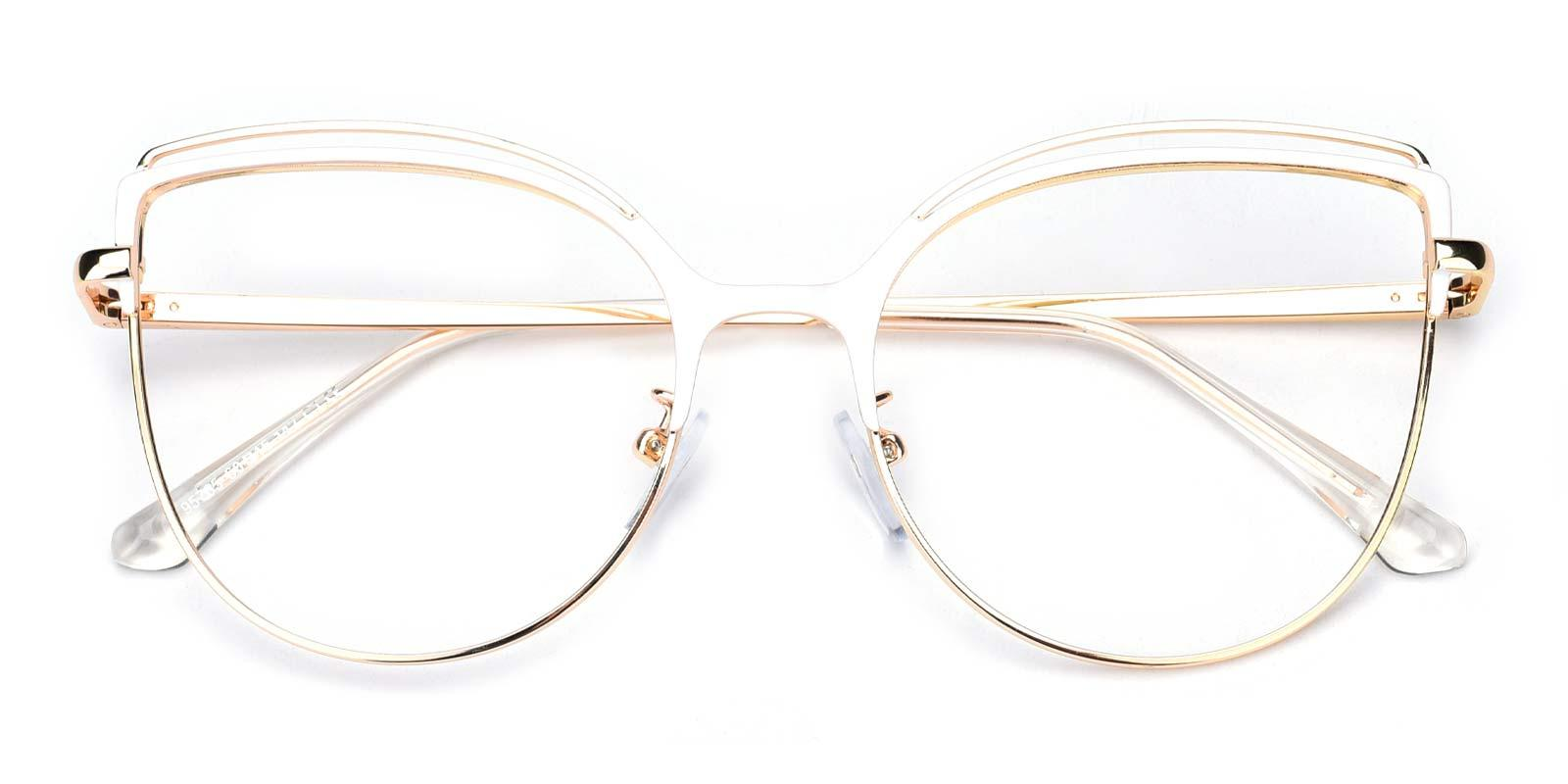 Ethel-White-Cat-Metal-Eyeglasses-detail