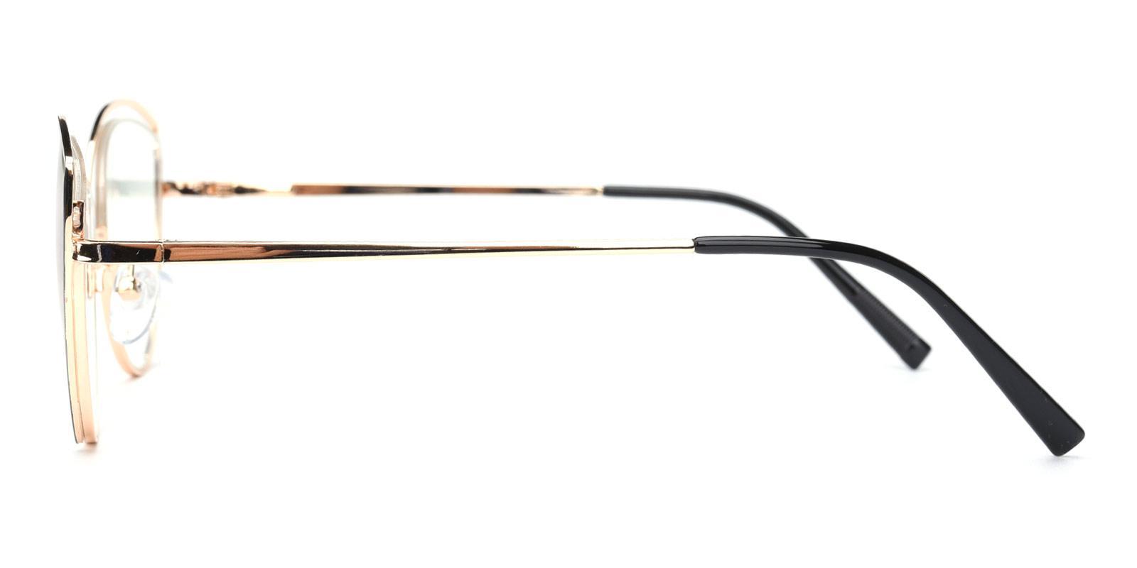Julie-Black-Cat-Metal-Eyeglasses-detail