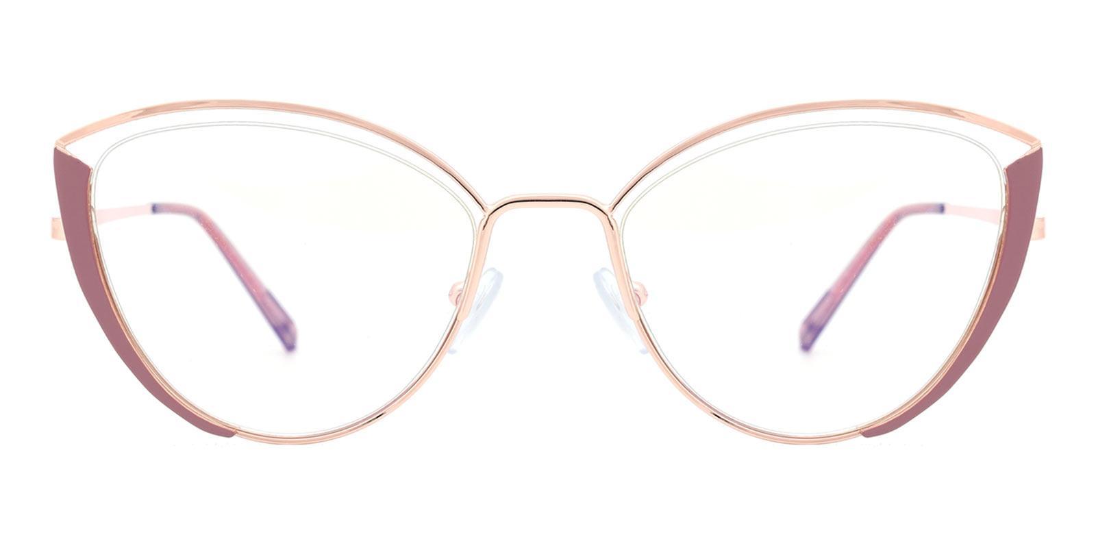Julie-Pink-Cat-Metal-Eyeglasses-detail