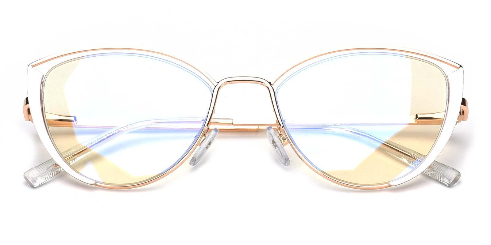 Julie-White-Cat-Metal-Eyeglasses-detail