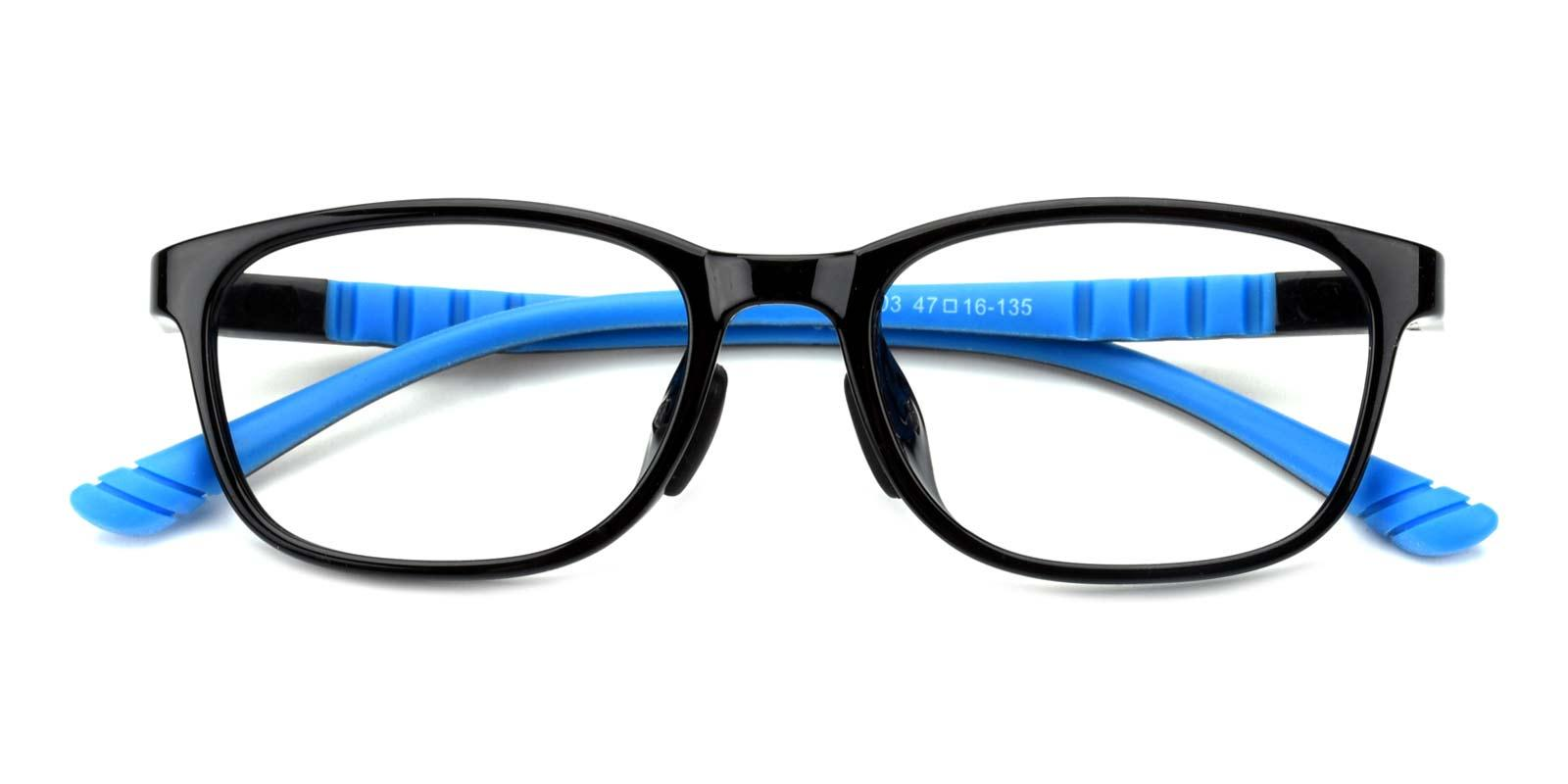 Modesty-Multicolor-Rectangle-Combination / TR-Eyeglasses-detail