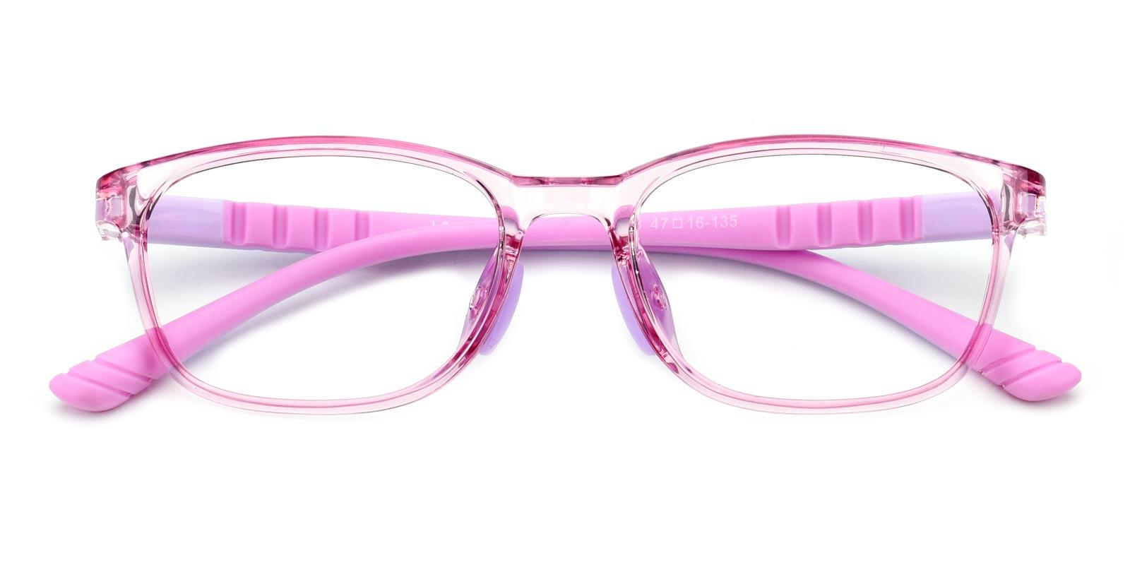 Modesty-Pink-Rectangle-Combination / TR-Eyeglasses-detail