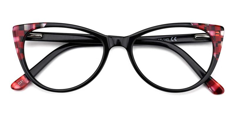 Sylvia-Black-Eyeglasses