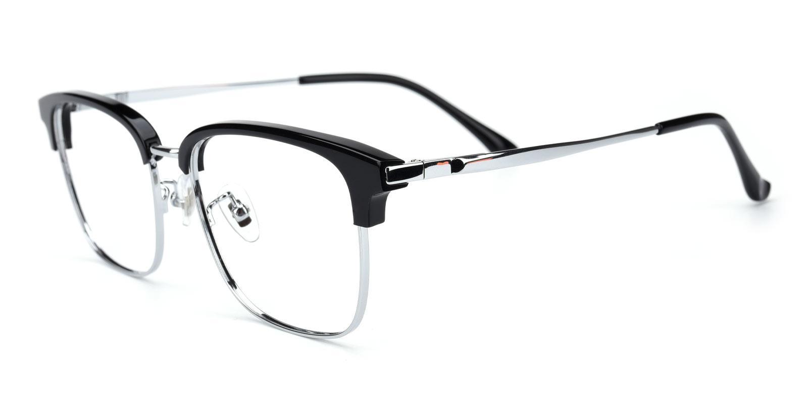 Yuri-Black-Browline-Titanium-Eyeglasses-detail