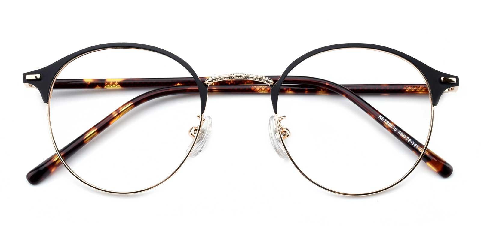 Evelyn-Tortoise-Round-Metal-Eyeglasses-detail