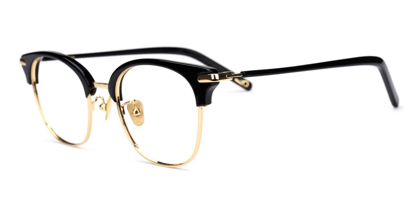 Baron-Black-Browline-Titanium-Eyeglasses-detail