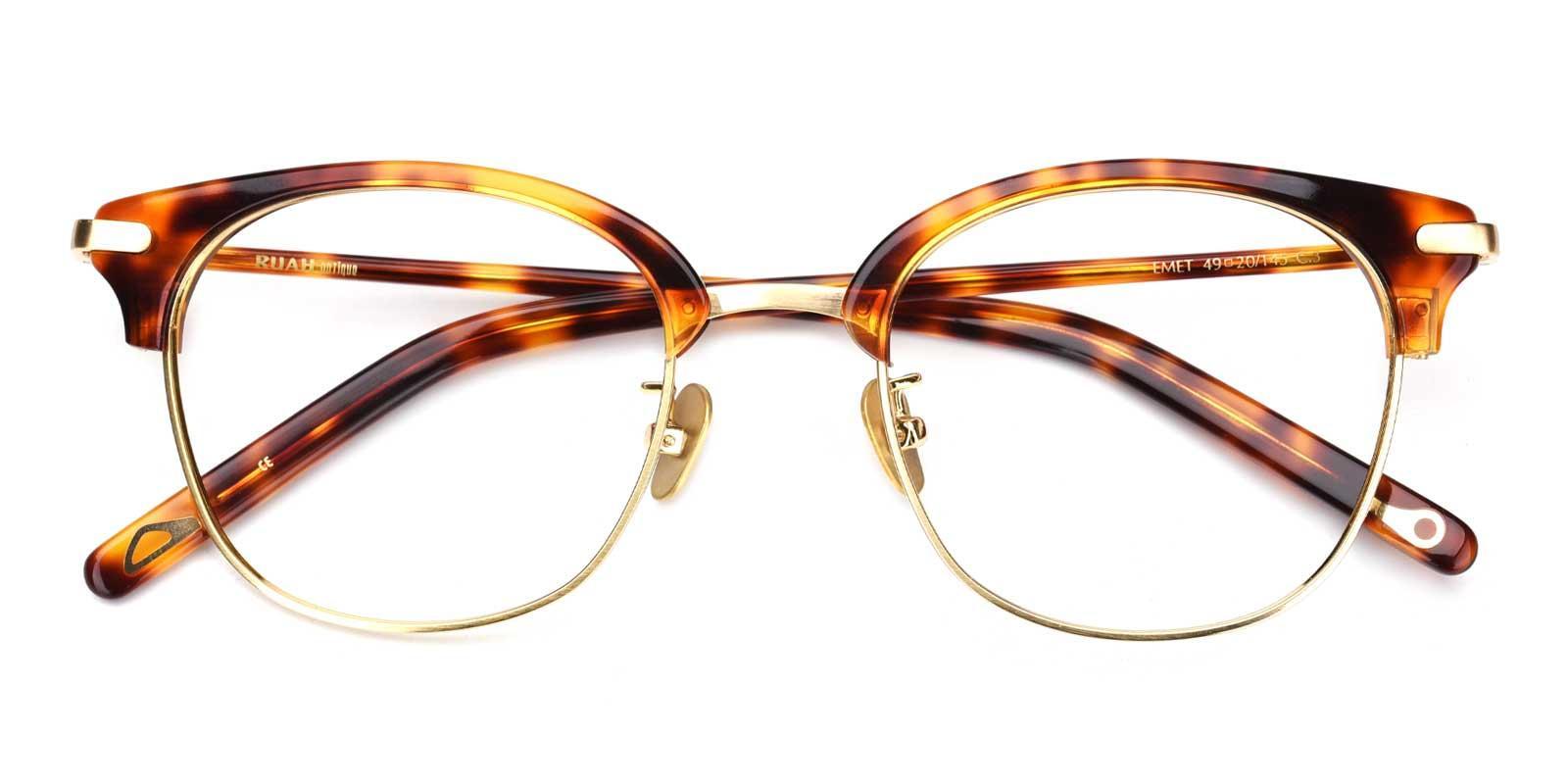 Baron-Tortoise-Browline-Titanium-Eyeglasses-detail